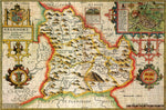 Breconshire 1610 Historical Map 300 Piece Wooden Jigsaw Puzzle