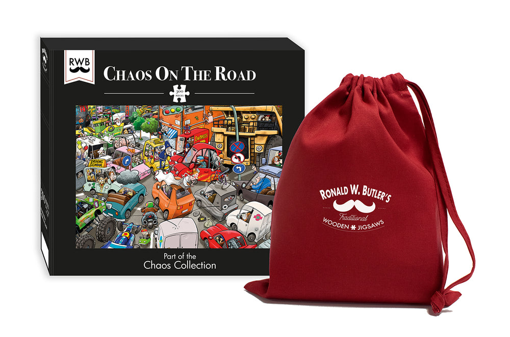Chaos on the Road 300 Piece Wooden Jigsaw Puzzle