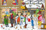 A Dickensian Yuletide - Ambler Cartoon Collection 300 Piece Wooden Jigsaw Puzzle