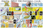 Spot the Football Club - Simon Drew Designs - 300 Piece Wooden Jigsaw Puzzle