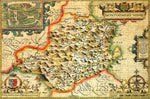 Montgomeryshire 1610 Historical Map 300 Piece Wooden Jigsaw Puzzle