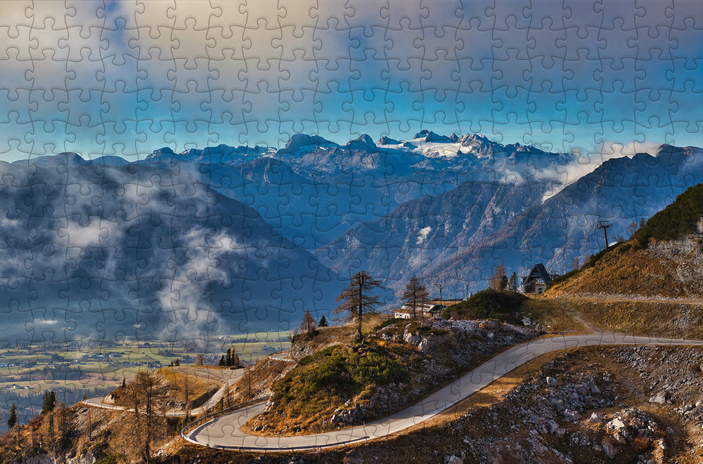 Mountain Road - 300 Piece Wooden Jigsaw Puzzle