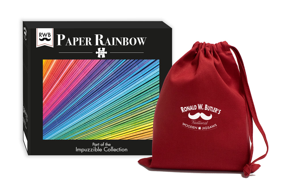 Paper Rainbow - Impuzzible - 300 Piece Wooden Jigsaw Puzzle
