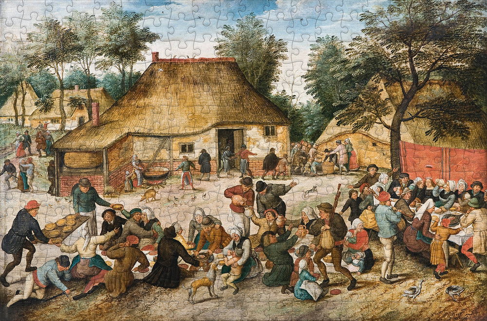 The Peasant Wedding 300 Piece Wooden Jigsaw Puzzle