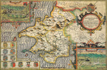 Pembrokeshire 1610 Historical Map 300 Piece Wooden Jigsaw Puzzle