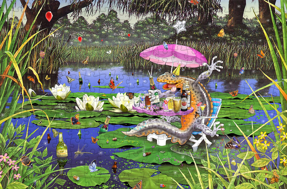 P*ssed as a Newt - Mike Jupp 300 Piece Wooden Jigsaw Puzzle