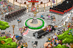 Chaos at the Royal Wedding 300 Piece Wooden Jigsaw Puzzle