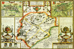 Rutland 1610 Historical Map 300 Piece Wooden Jigsaw Puzzle
