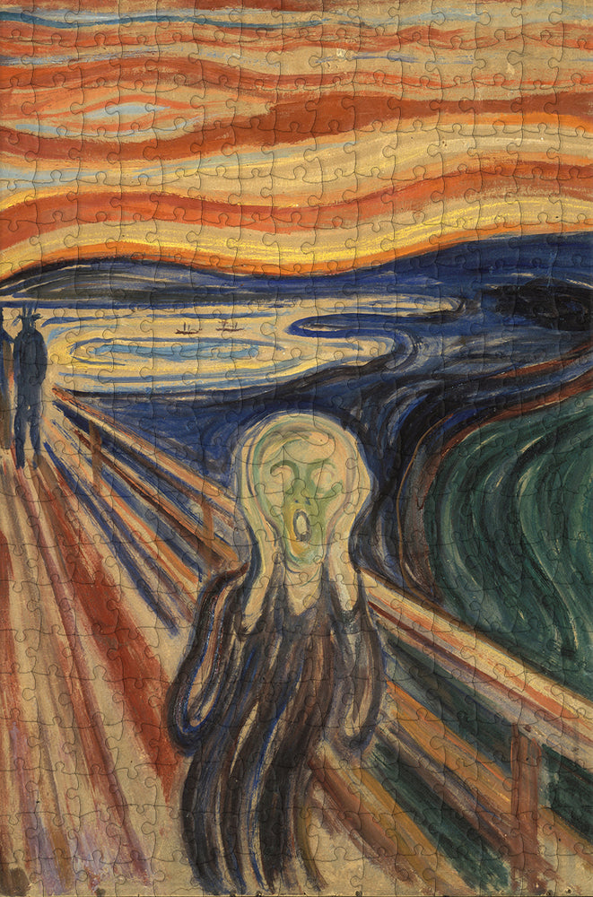 The Scream by Edvard Munch 300 Piece Wooden Jigsaw Puzzle