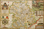 Shropshire 1610 Historical Map 300 Piece Wooden Jigsaw Puzzle