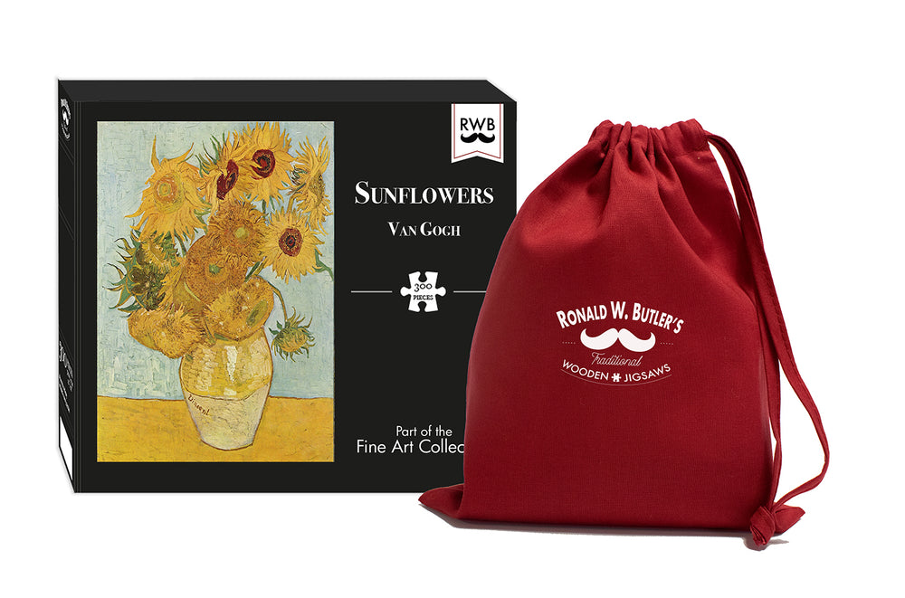 Sunflowers by Vincent van Gogh 300 Piece Wooden Jigsaw Puzzle