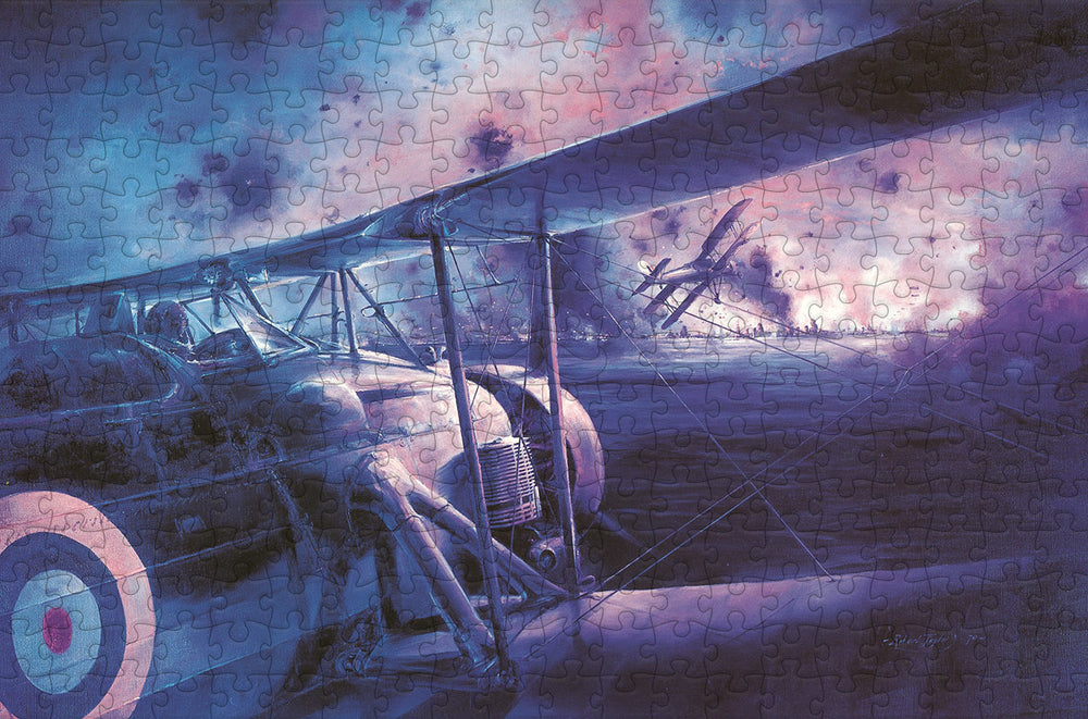 The Swordfish Attack at Taranto - Navy Wings 300 Piece Wooden Jigsaw Puzzle