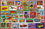 Christmas Toy Stamps 300 Piece Wooden Jigsaw Puzzle