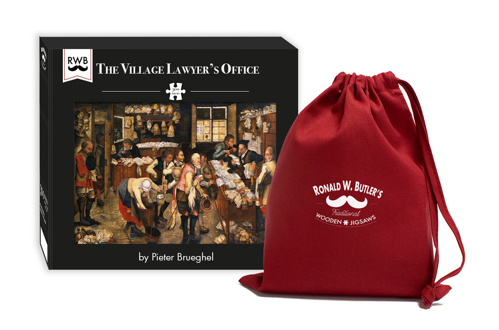 The Village Lawyer's Office 300 Piece Wooden Jigsaw Puzzle