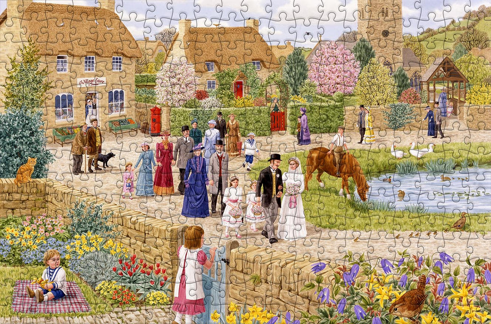 Village Wedding - Sarah Adams - 300 Piece Wooden Jigsaw Puzzle