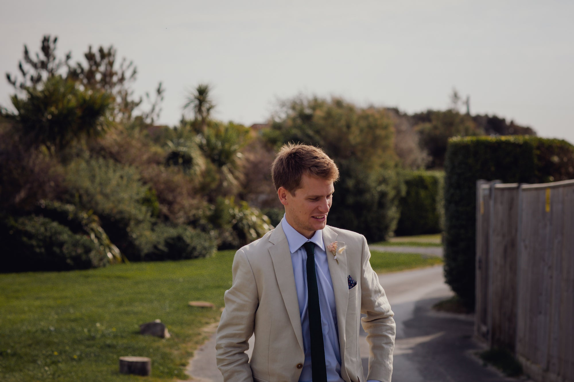Linen suit for a wedding