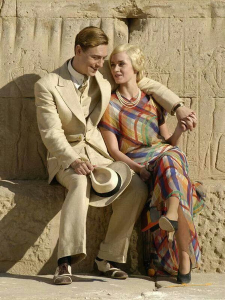 Emily Blunt and J J Feild in Death in the Nile