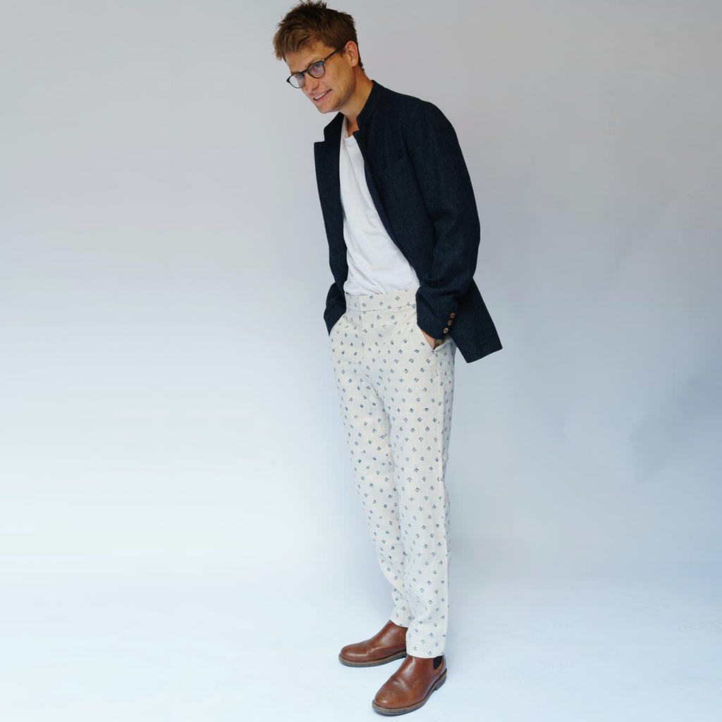 Printed Linen Trousers - Formal
