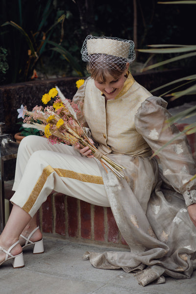 Bride in trousers