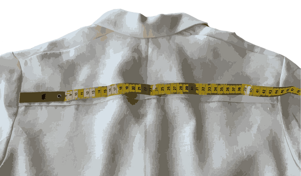 Measuring a shirt - Cross Back