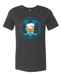 Cincy Brew Bus Anniversary Short Sleeve Unisex T-Shirt
