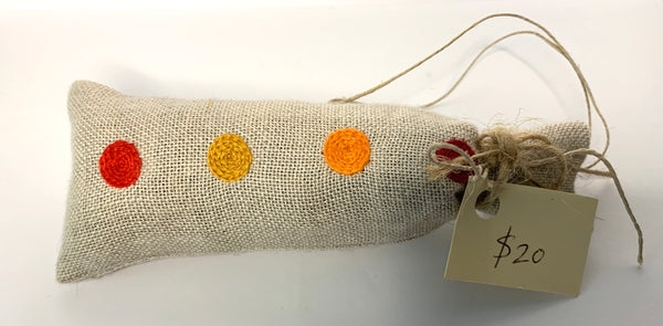 Lavender Filled Embroidered Pouch