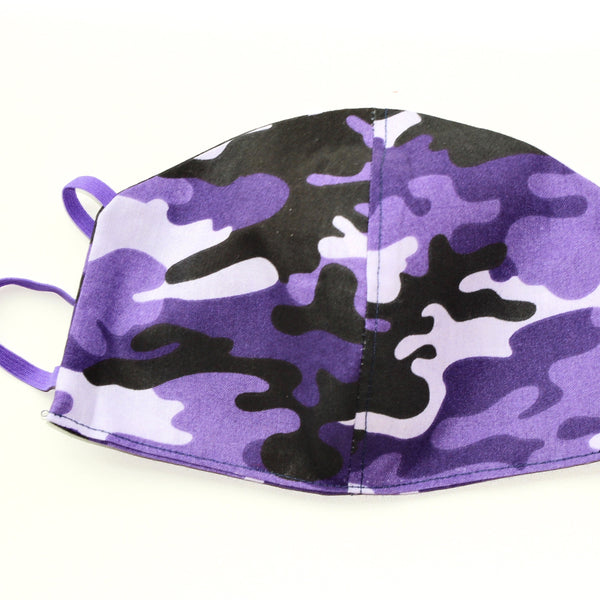 Purple Black Lavender Camouflage FaceMask