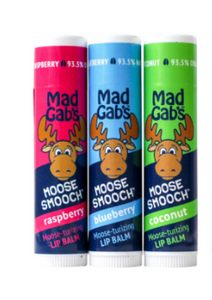 Mad Gab's Lip Balm Stick Coconut, Natural, Blueberry available $6.00 each
