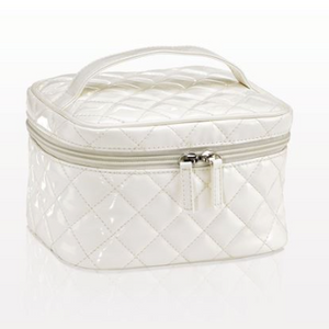 Quilted Medium White Bag