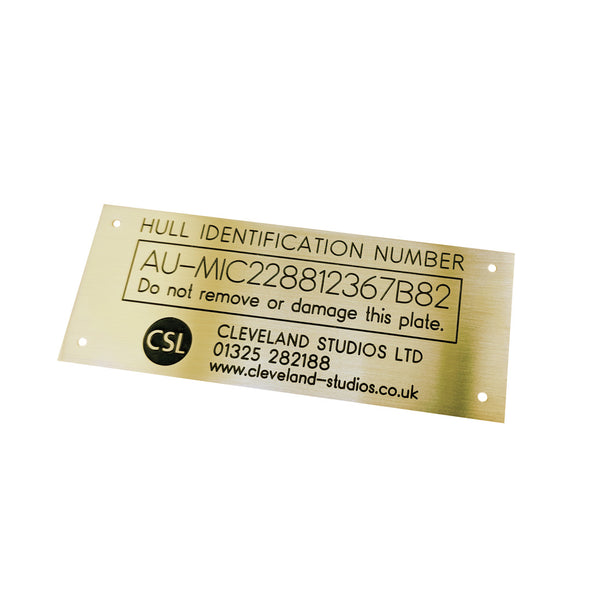 Engraved Data Plates