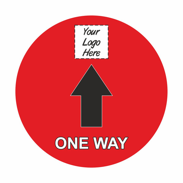 One Way floor signage stickers (12 Pack)