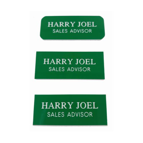 Engraved Green Name Badges