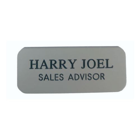 Engraved Grey Name Badges