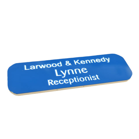 Engraved Name Badge 60mm x 25mm