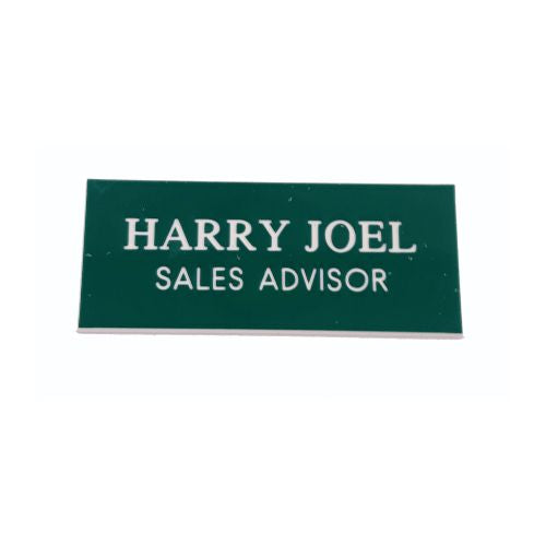 Engraved Teal Green Name Badges