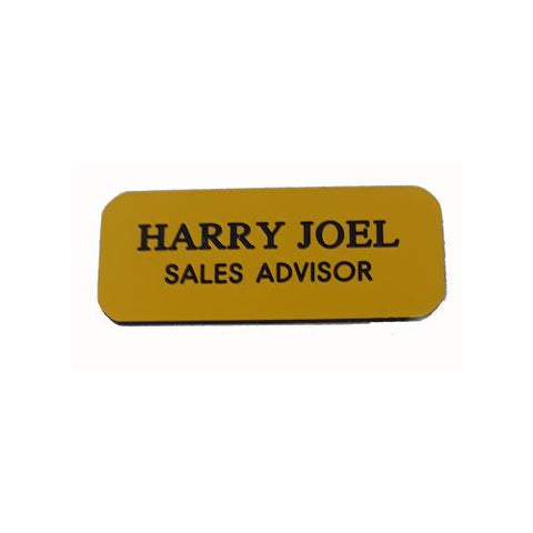 Engraved Yellow Name Badges