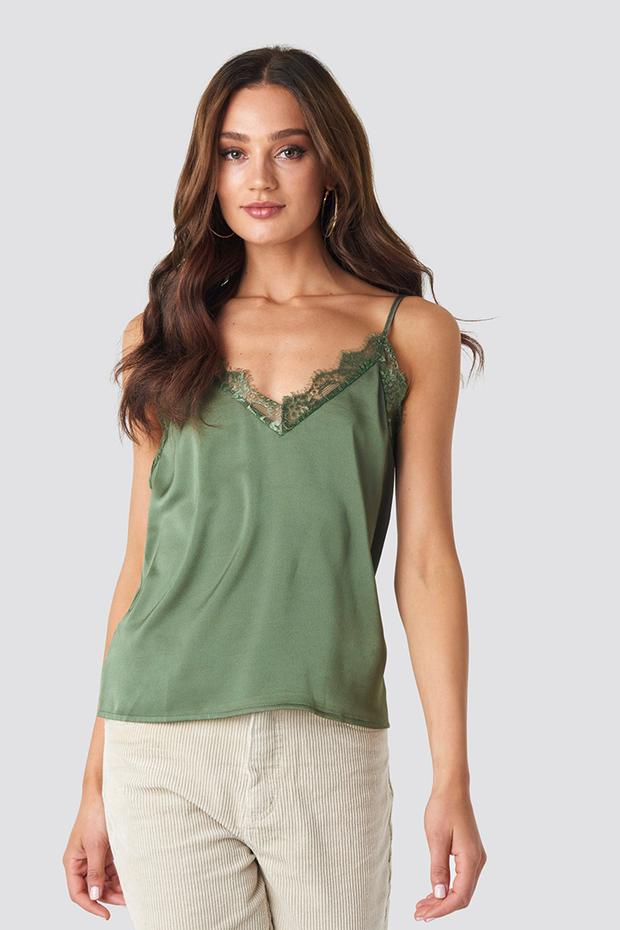 Top Tina lace khaki