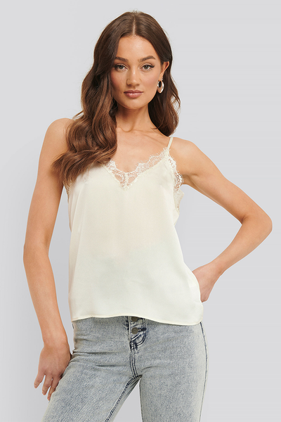Top Tina lace white
