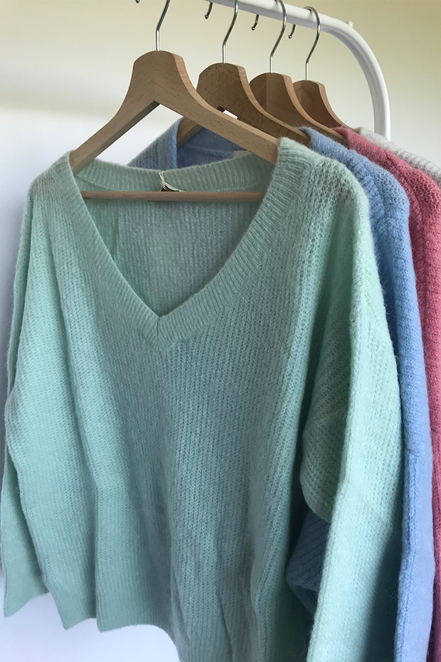 Knit Aria pastel mint
