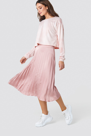 Pleated midi skirt Bianca dusty pink