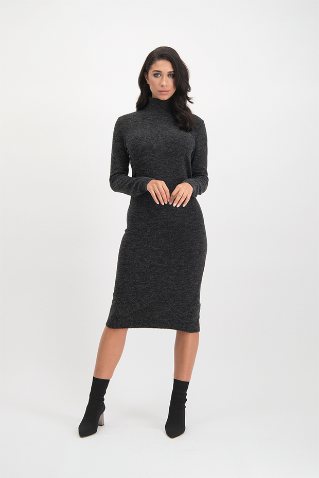 Knit dress Joana grijs