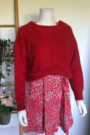 Knit Felicia bright red