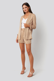Blazer Kelly satin beige