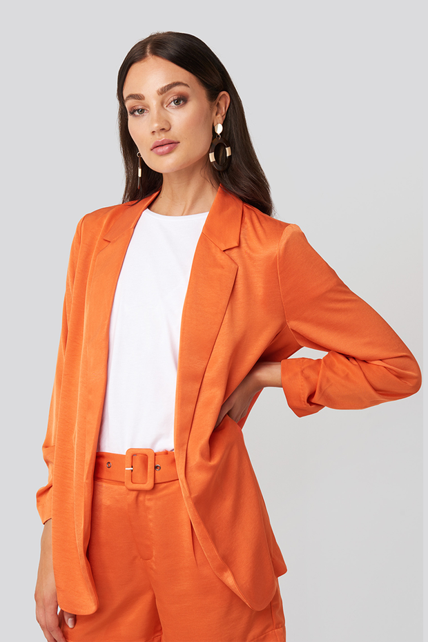 Blazer Kelly satin oranje