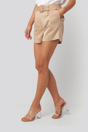 Short Kelly satin beige