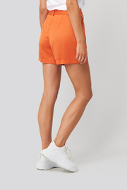Short Kelly satin oranje