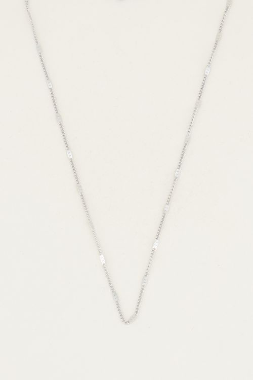 Necklace losse staafjes zilver