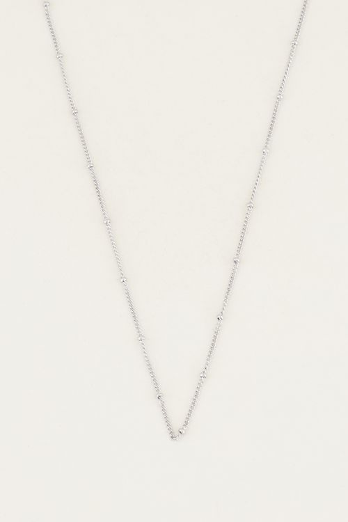 Neckless losse bolletjes zilver