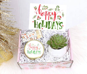 Appreciation Holiday Employees Gifts, Happy Holidays Gift Ideas, Holiday Gift, Holiday Hostess gift, Holiday Gift For Coworker (XBT2)