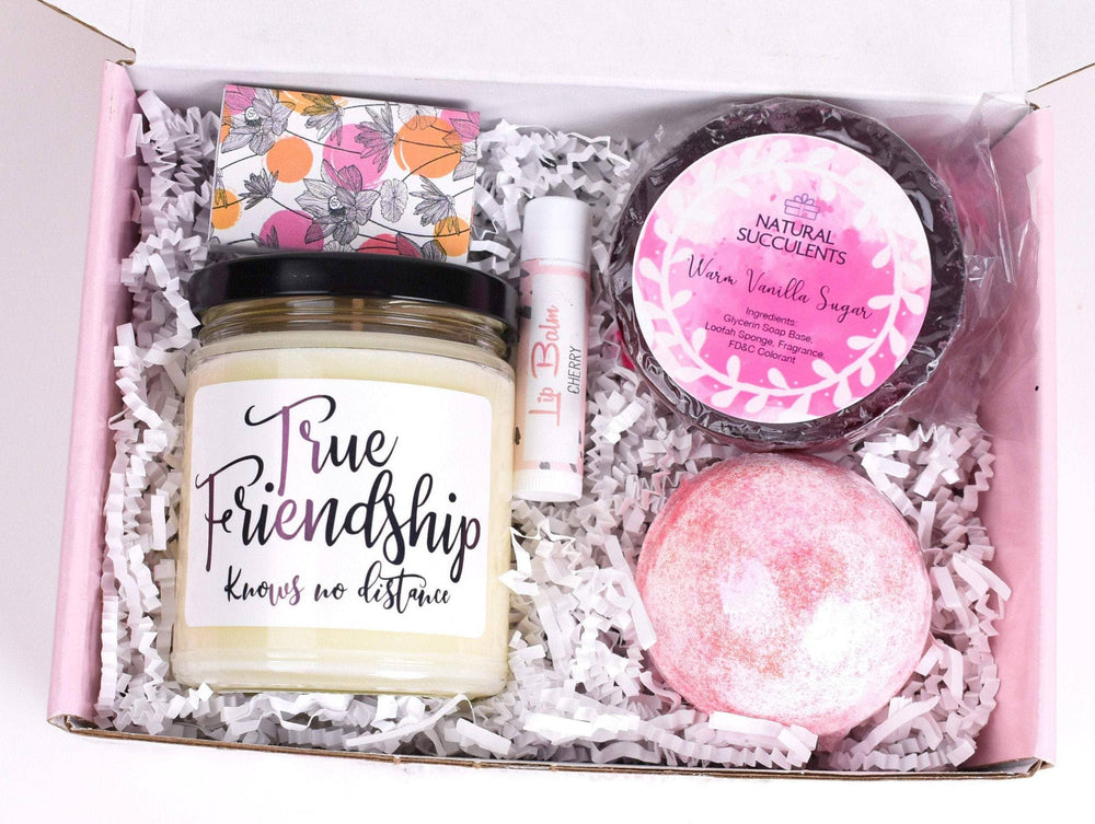 Friendship Knows No Distance Spa Gift - I Miss You - Gift For Friend - Gift For Women - Long Distance Friendship Gift - Gift For Her  (XPL5)